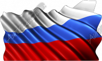 Waving Russian Flag