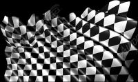 Waving Checkered Flag Cloth