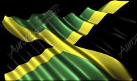 Waving Jamaican Flag Cloth