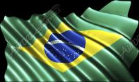 Waving Brazilian Flag Cloth