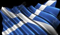 Waving Scotland Flag Cloth