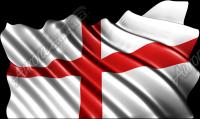 Waving England (UK) Flag