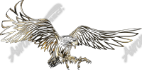 Gold Tribal Eagle