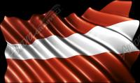 Waving Austrian Flag Cloth