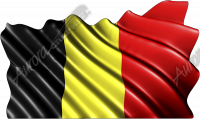 Waving Belgium Flag