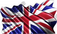 Waving Great Britain Flag (Union Jack) Cloth