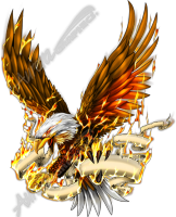 Eagle in Flames