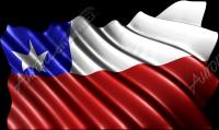 Waving Chile Flag Cloth