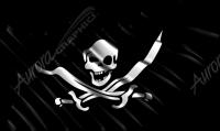 Waving Pirate Flag Cloth