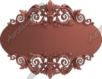 Filigree Sign Blank Round