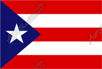 Puerto Rican Flag Flat