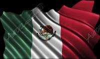 Waving Mexican Flag Cloth