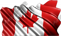 Waving Canadian Flag Cloth