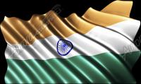 Waving India Flag Cloth