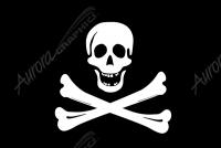Pirate Flag Crossbones Flat