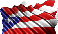 Waving Puerto Rican Flag