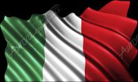 Waving Italian Flag Cloth