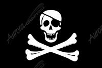 Pirate Flag Crossbones Eyepatch Flat