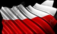 Waving Polish Flag Cloth