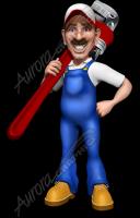 Plumberman Holding Wrench