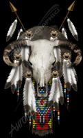 Ornamental Bull Skull