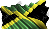 Waving Jamaican Flag