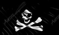 Waving Pirate Flag Eyepatch Cloth