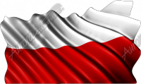 Waving Polish Flag