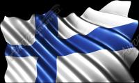 Waving Finnish Flag Cloth