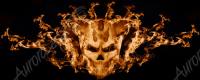Demonic Skull in Flames