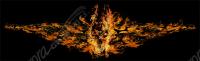 Tribal Flames Skull