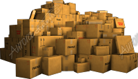 Large Pile of Boxes
