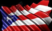 Waving Puerto Rican Flag Cloth