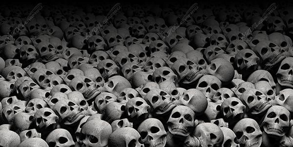 Large Pile Of Skulls