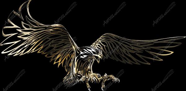 Gold Tribal Eagle