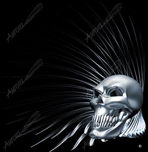 Spiral Glass Skull