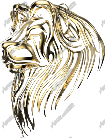 Gold Tribal Lion