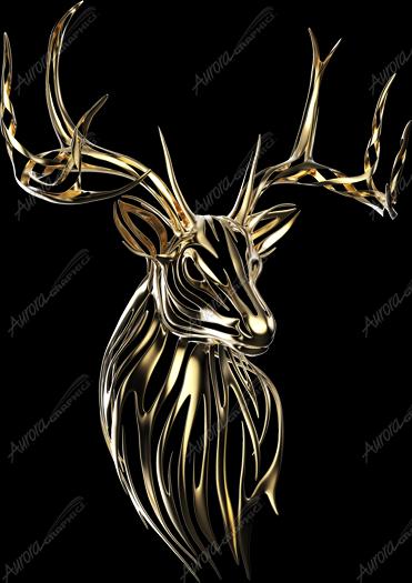 Gold Tribal Buck