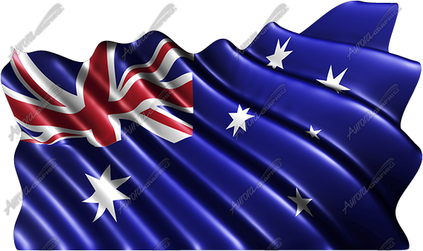 Waving Australian Flag