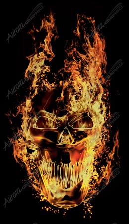 Flaming Skull Front