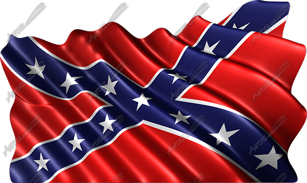 Waving Rebel Flag