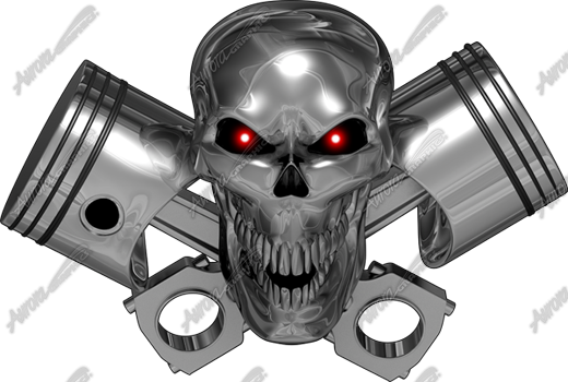 Chrome Gearhead Skull