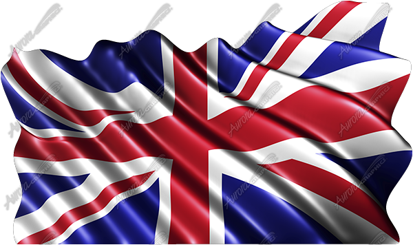 Waving Great Britain Flag (Union Jack)