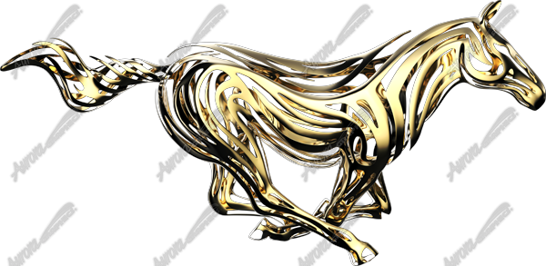 Gold Tribal Mustang