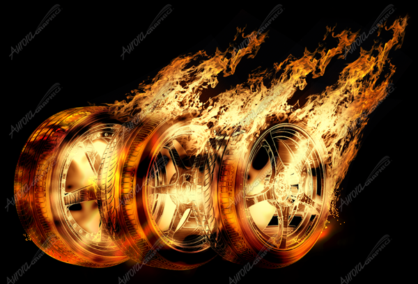 Burning Rims and Tires